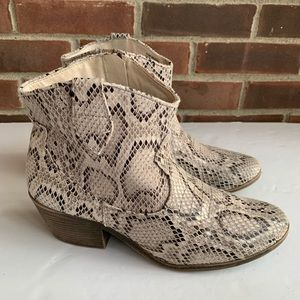 Rampage Whendl snake skin print ankle boots